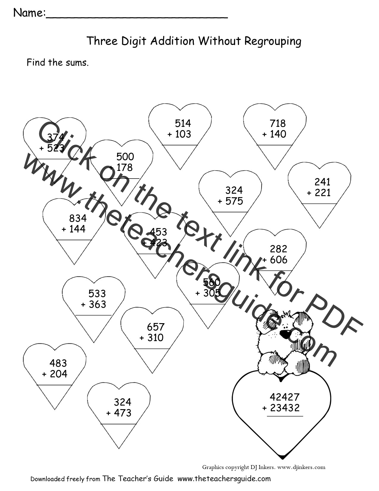 Three Digit Addition And Subtraction Worksheets With
