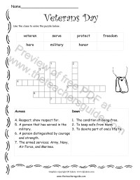 Veterans Day Printouts from The Teacher's Guide