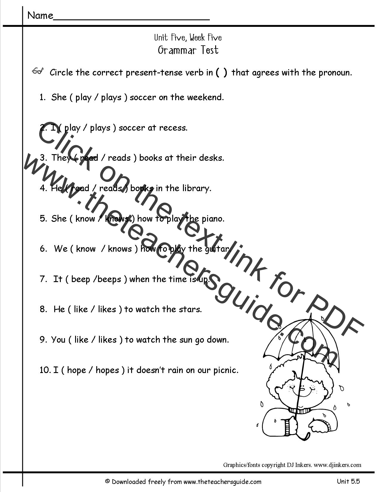 Wonders Second Grade Unit Five Week Five Printouts
