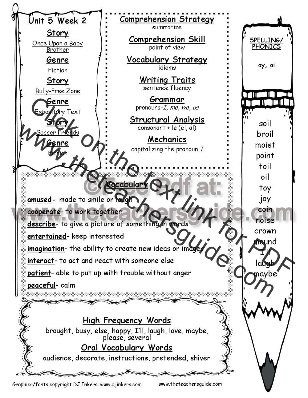 medium resolution of Wonders Second Grade Unit Five Week Two Printouts