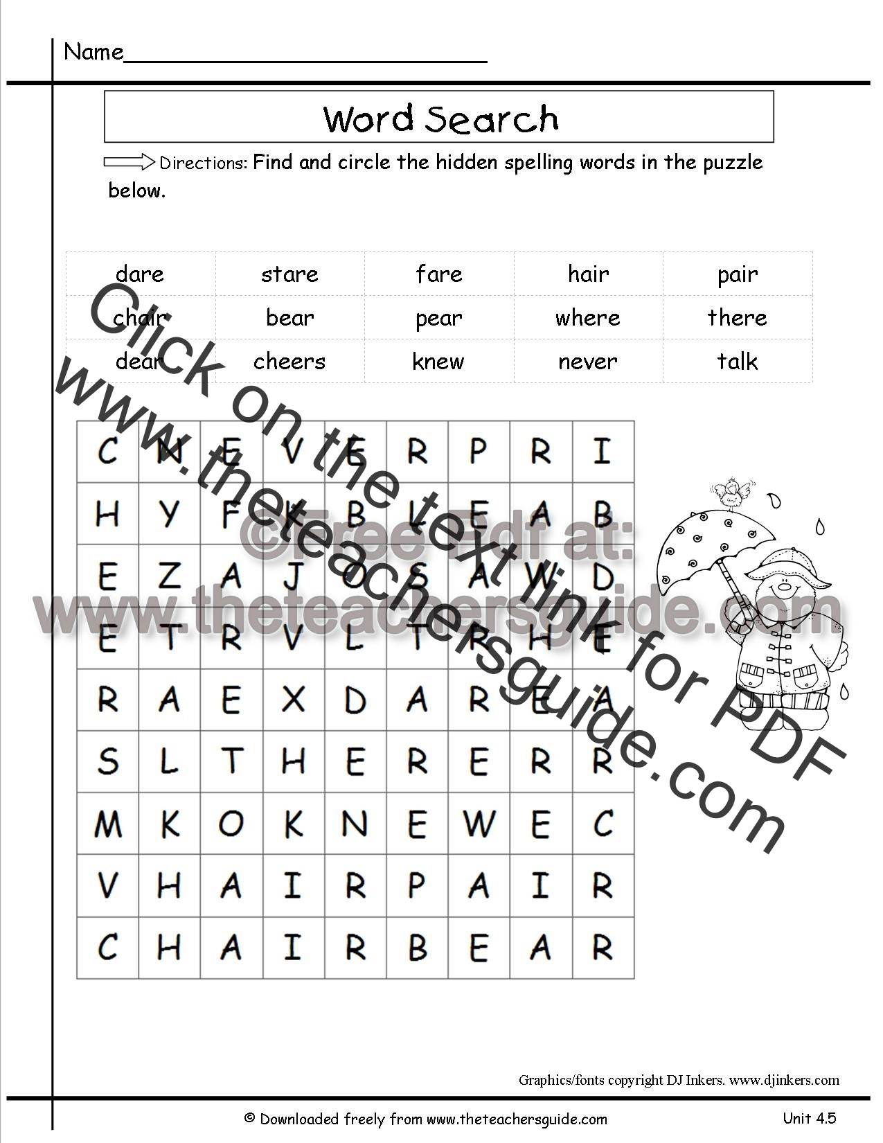 Contractions Worksheet For Second Graders