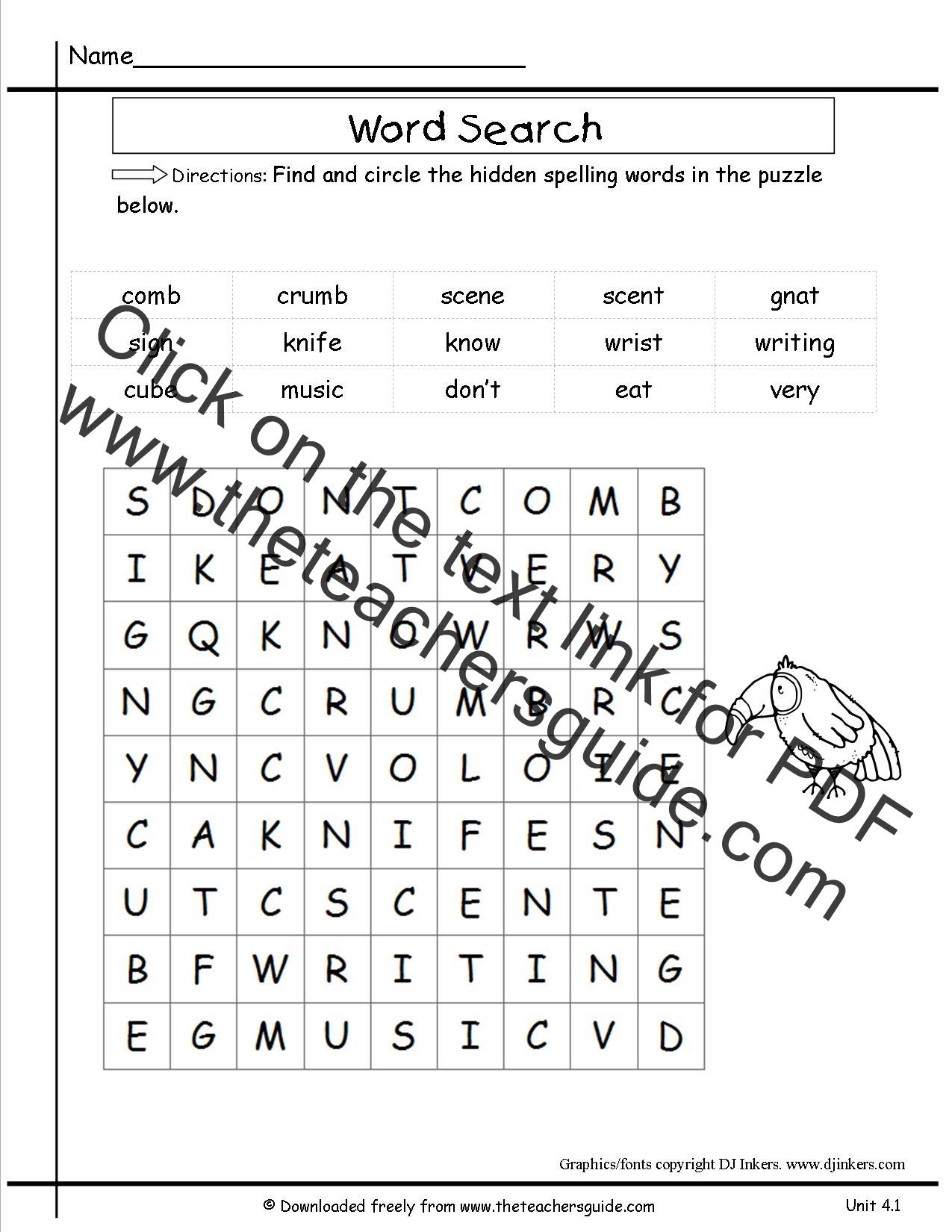 Wonders Second Grade Unit Four Week One Printouts