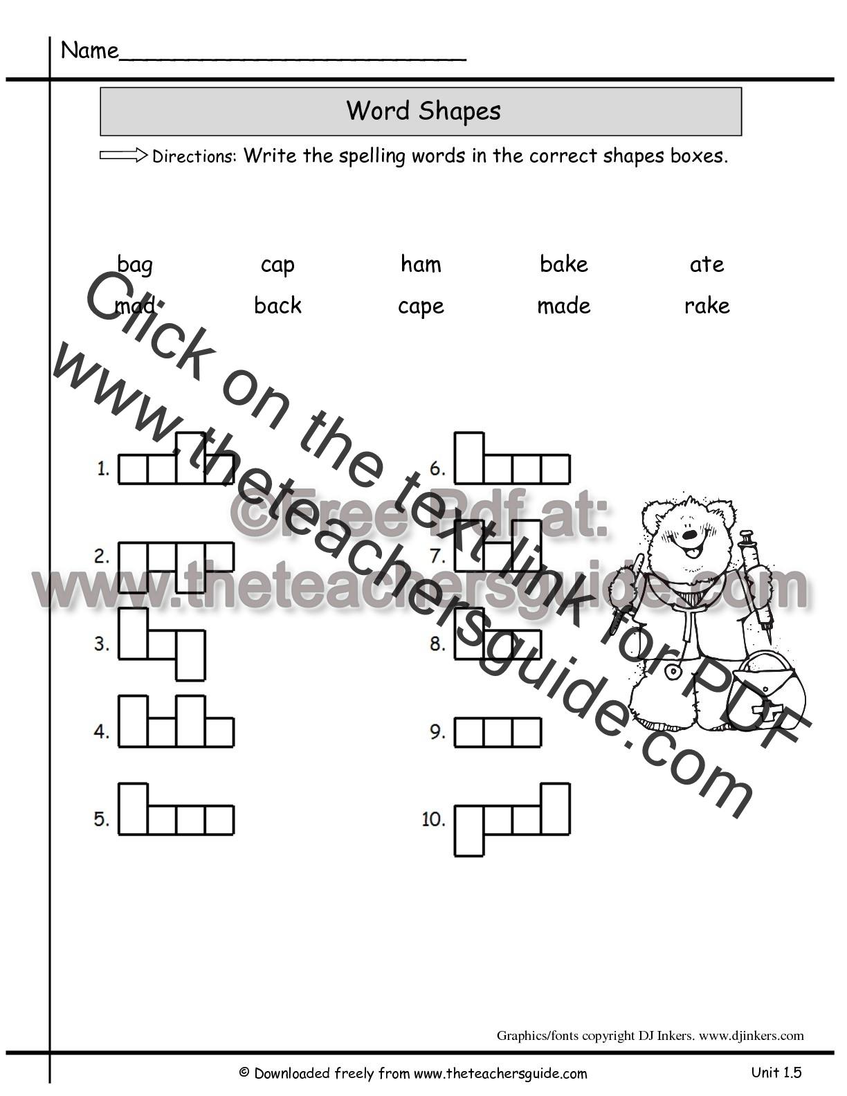 Wonders Second Grade Unit One Week Five Printouts
