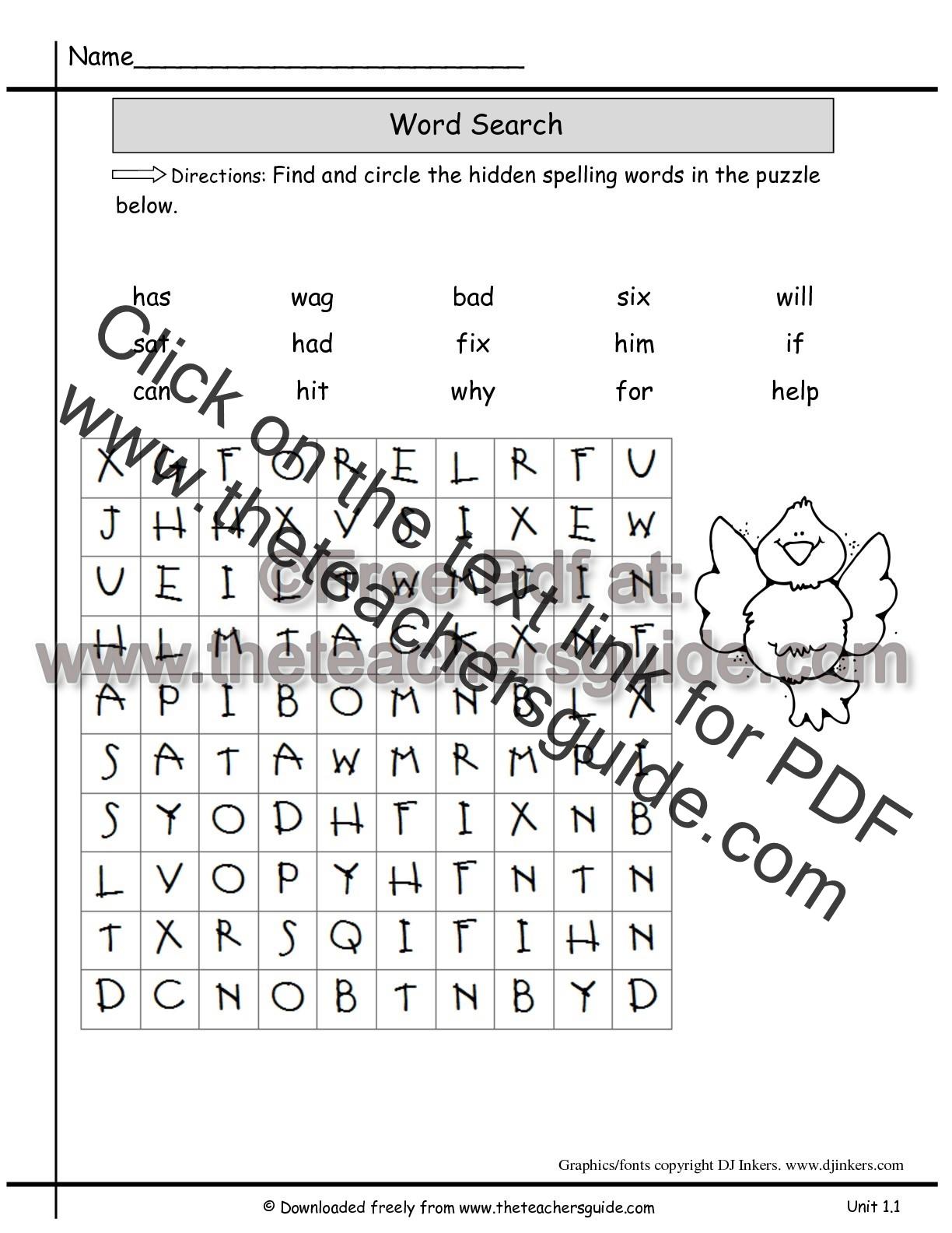Wonders Second Grade Unit One Week One Printouts