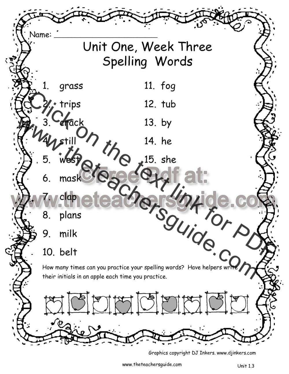 medium resolution of Wonders Second Grade Unit One Week Three Printouts