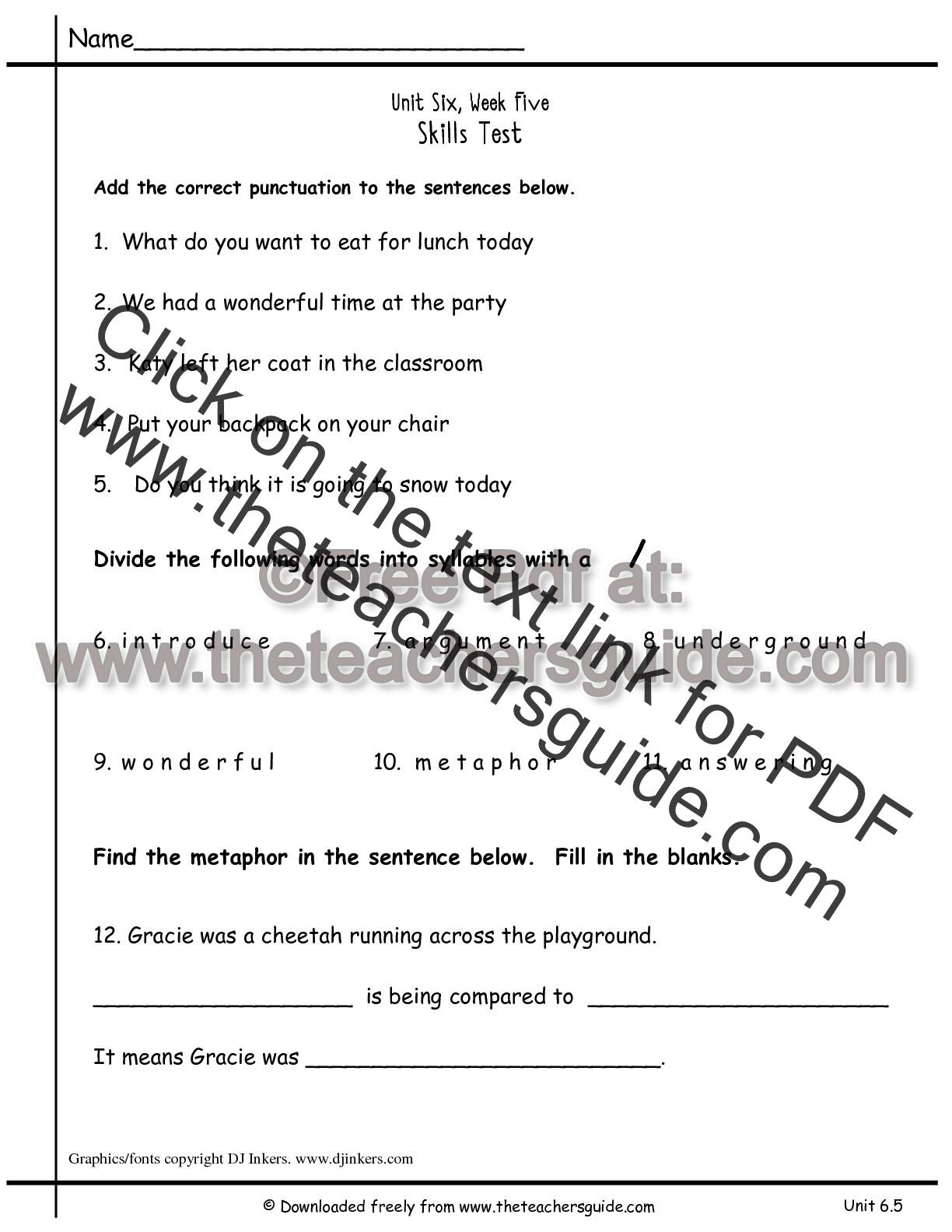 Wonders Second Grade Unit Six Week Five Printouts