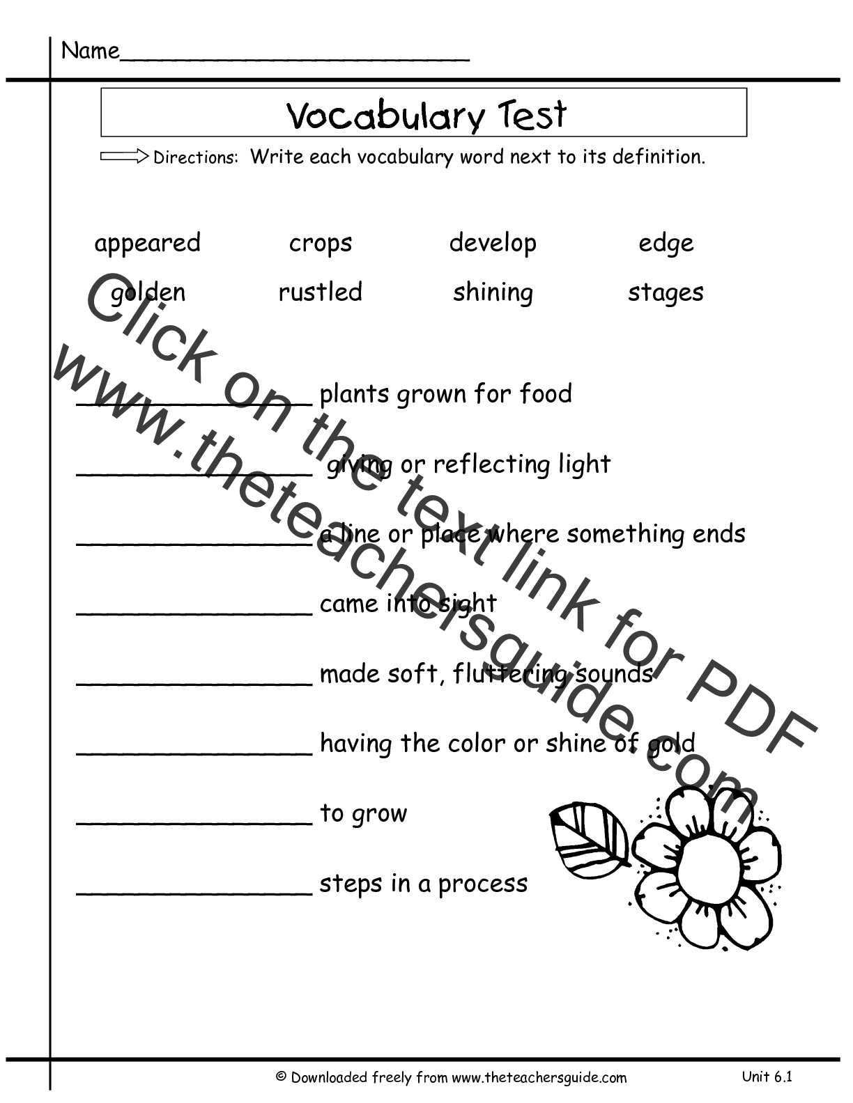 Wonders Second Grade Unit Six Week One Printouts