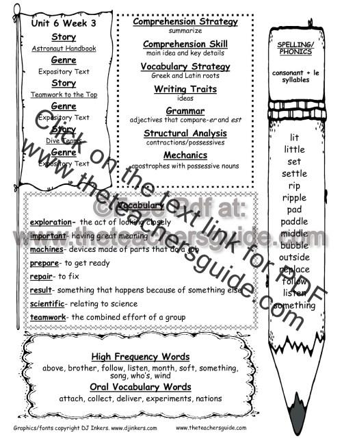 small resolution of Wonders Second Grade Unit Six Week Three Printouts