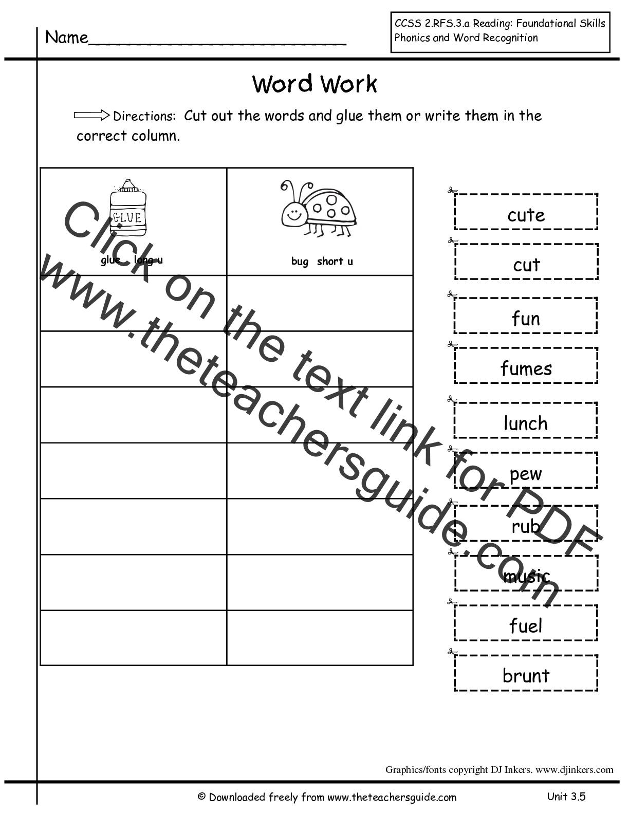 hight resolution of Wonders Second Grade Unit Three Week Five Printouts