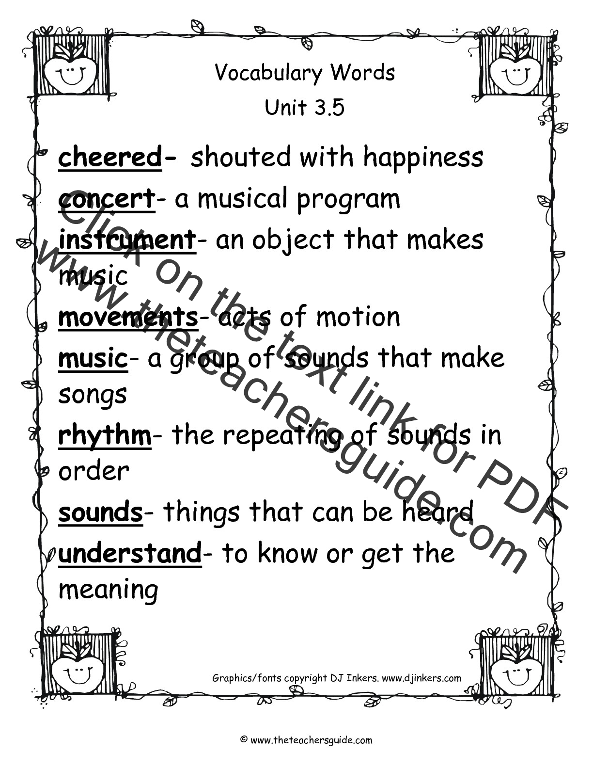 Vocabulary Exercises For Second Graders