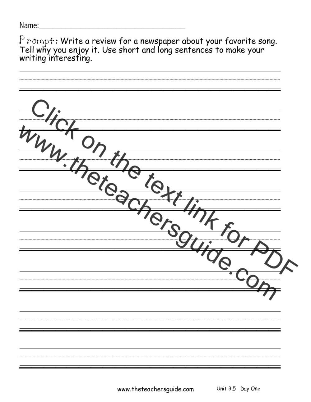 medium resolution of Creative writing prompts second grade :: shawnhumphries.com