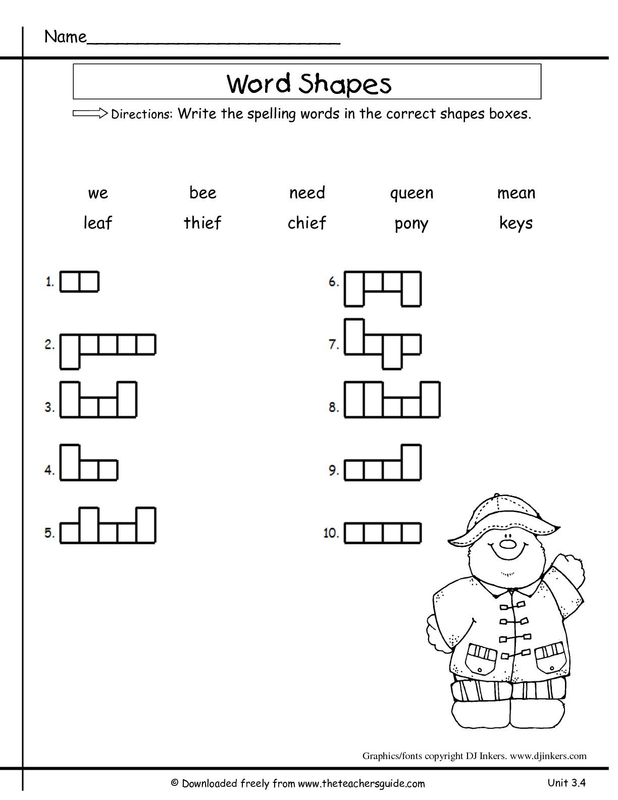 Wonders Second Grade Unit Three Week Four Printouts