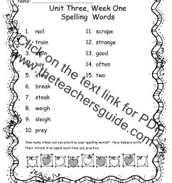 Wonders Second Grade Unit Three Week One Printouts [ 1584 x 1224 Pixel ]