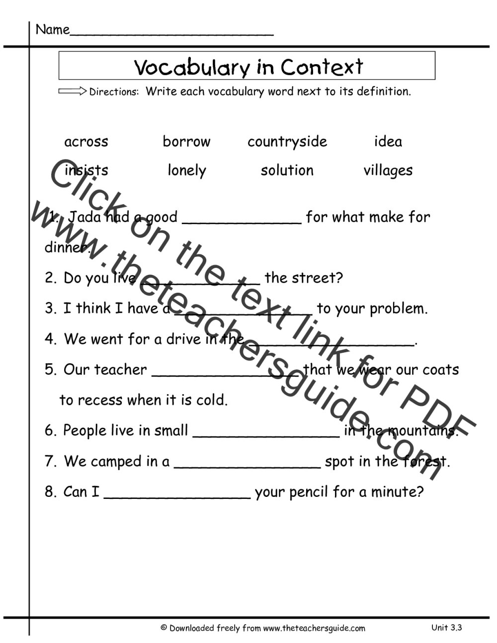 medium resolution of Wonders Second Grade Unit Three Week Three Printouts