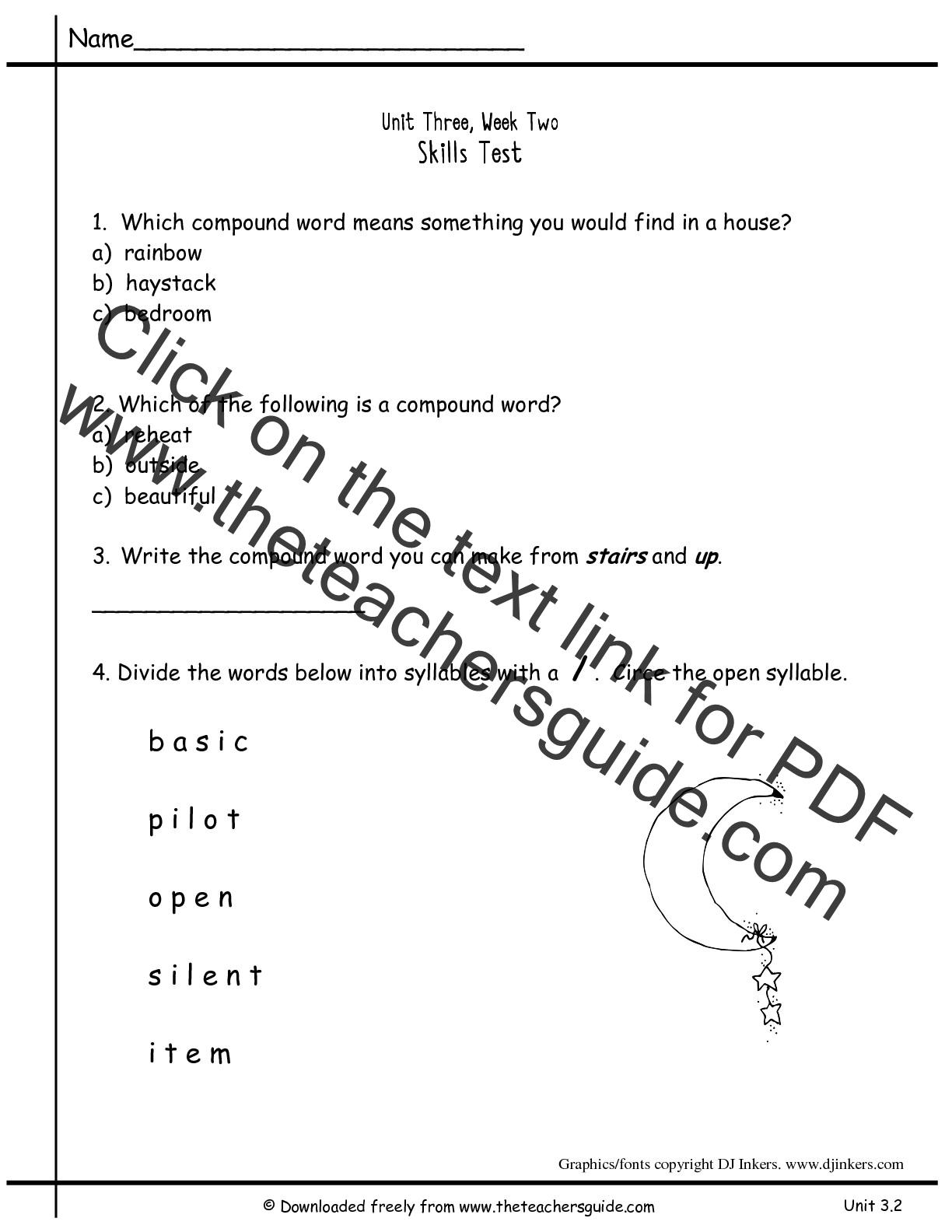 Worksheet Open Syllable Worksheets Worksheet Fun