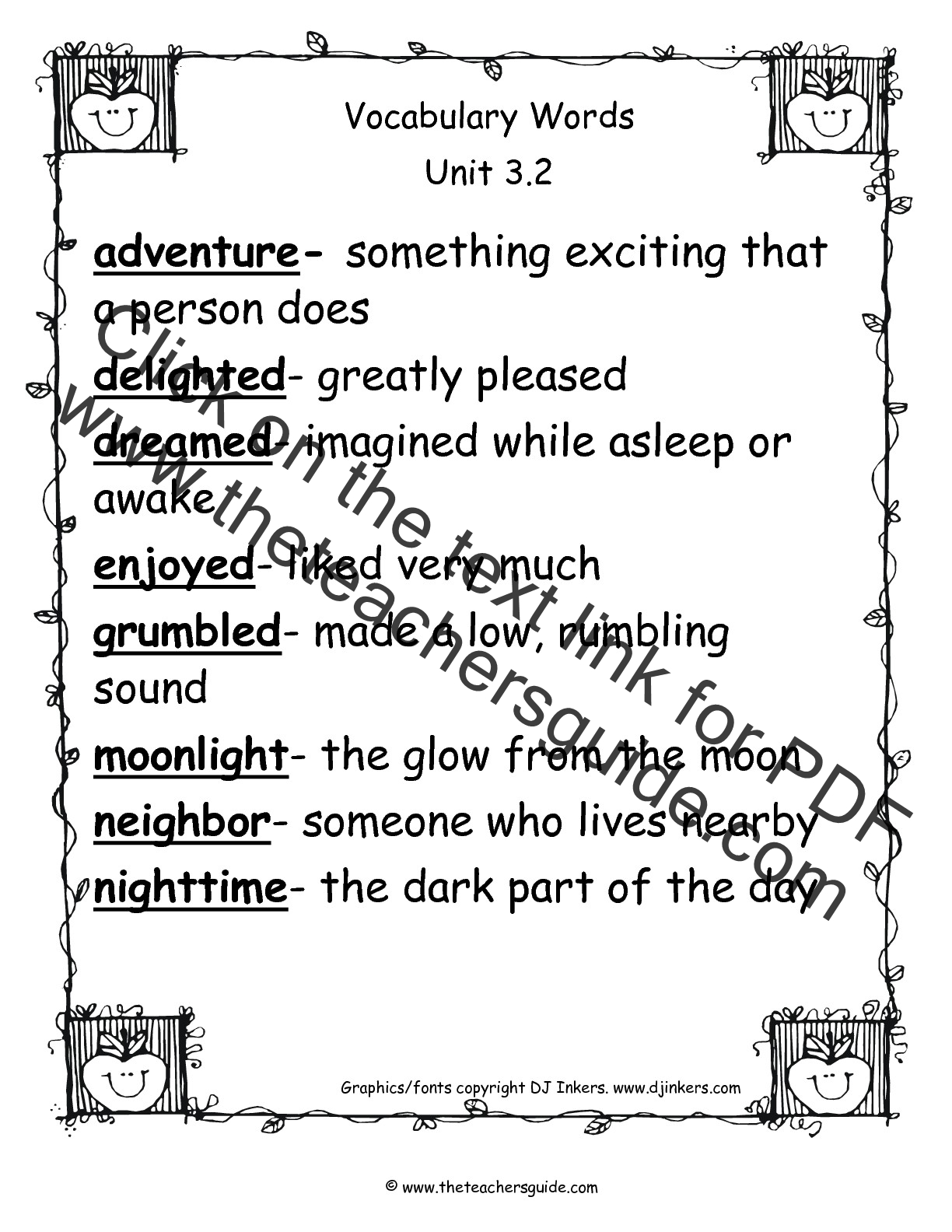 Vocabulary Worksheets Grade 2