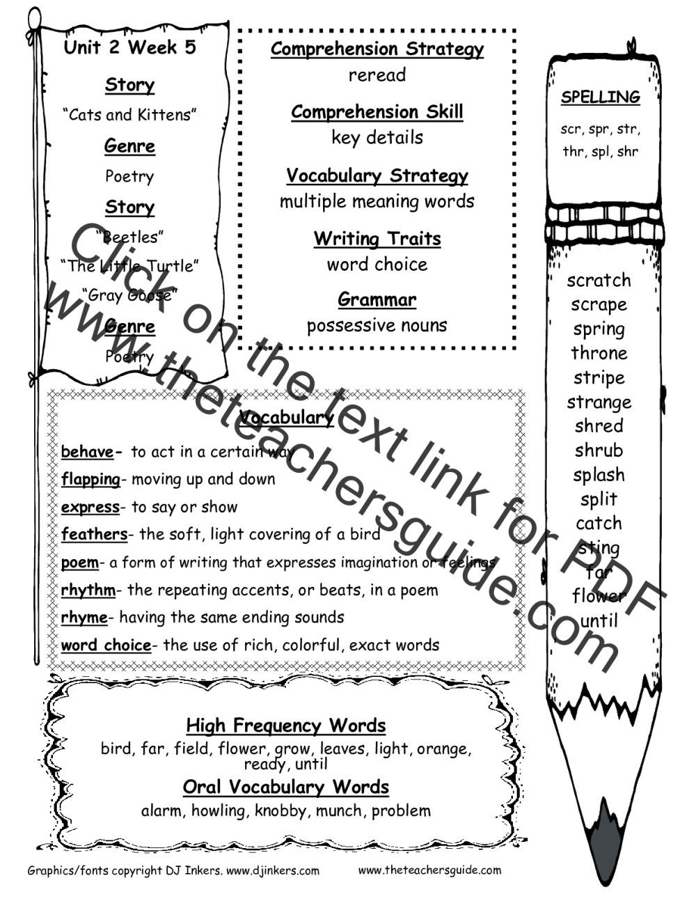 medium resolution of Wonders Second Grade Unit Two Week Five Printouts