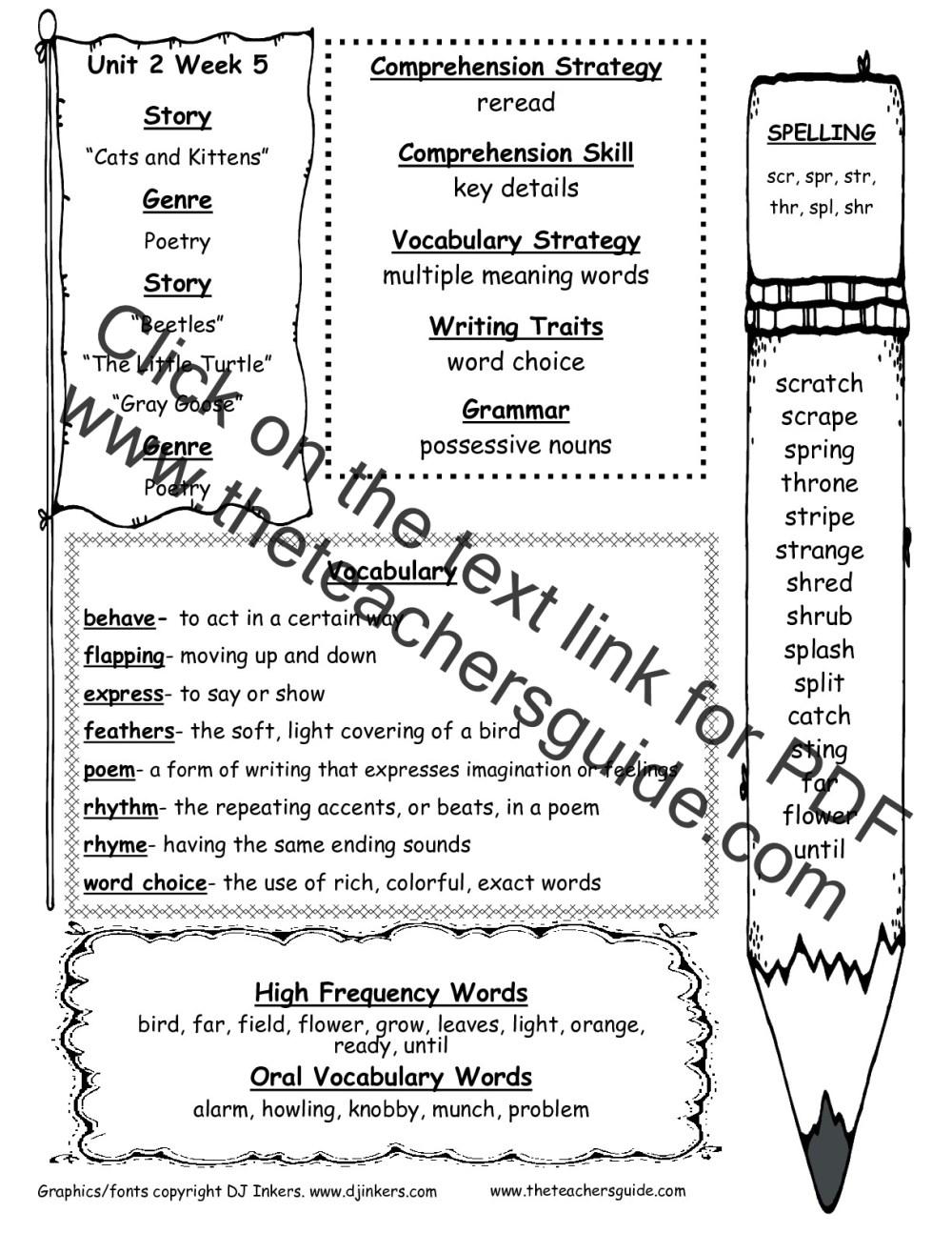 medium resolution of Wonders Second Grade Unit Two Week Five Printouts