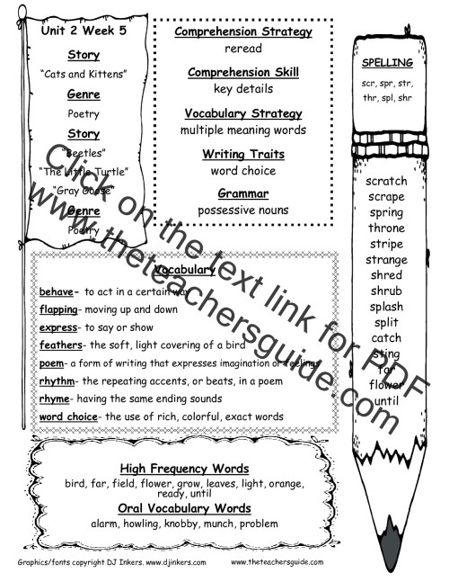 small resolution of Wonders Second Grade Unit Two Week Five Printouts