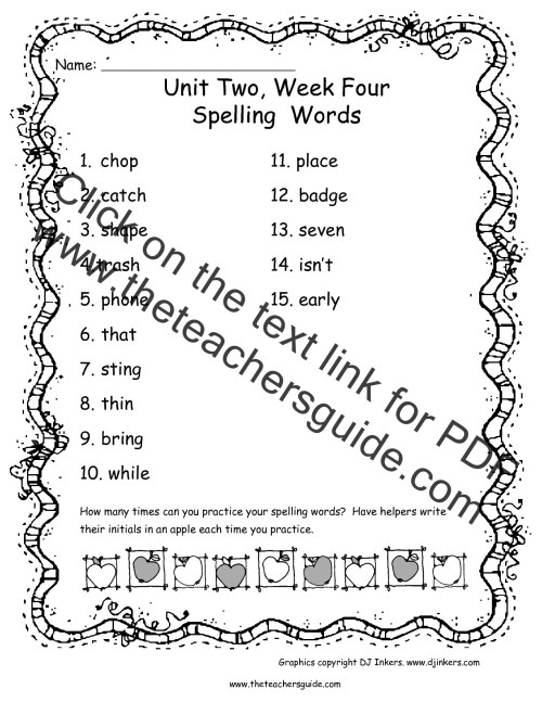 small resolution of Wonders Second Grade Unit Two Week Four Printouts
