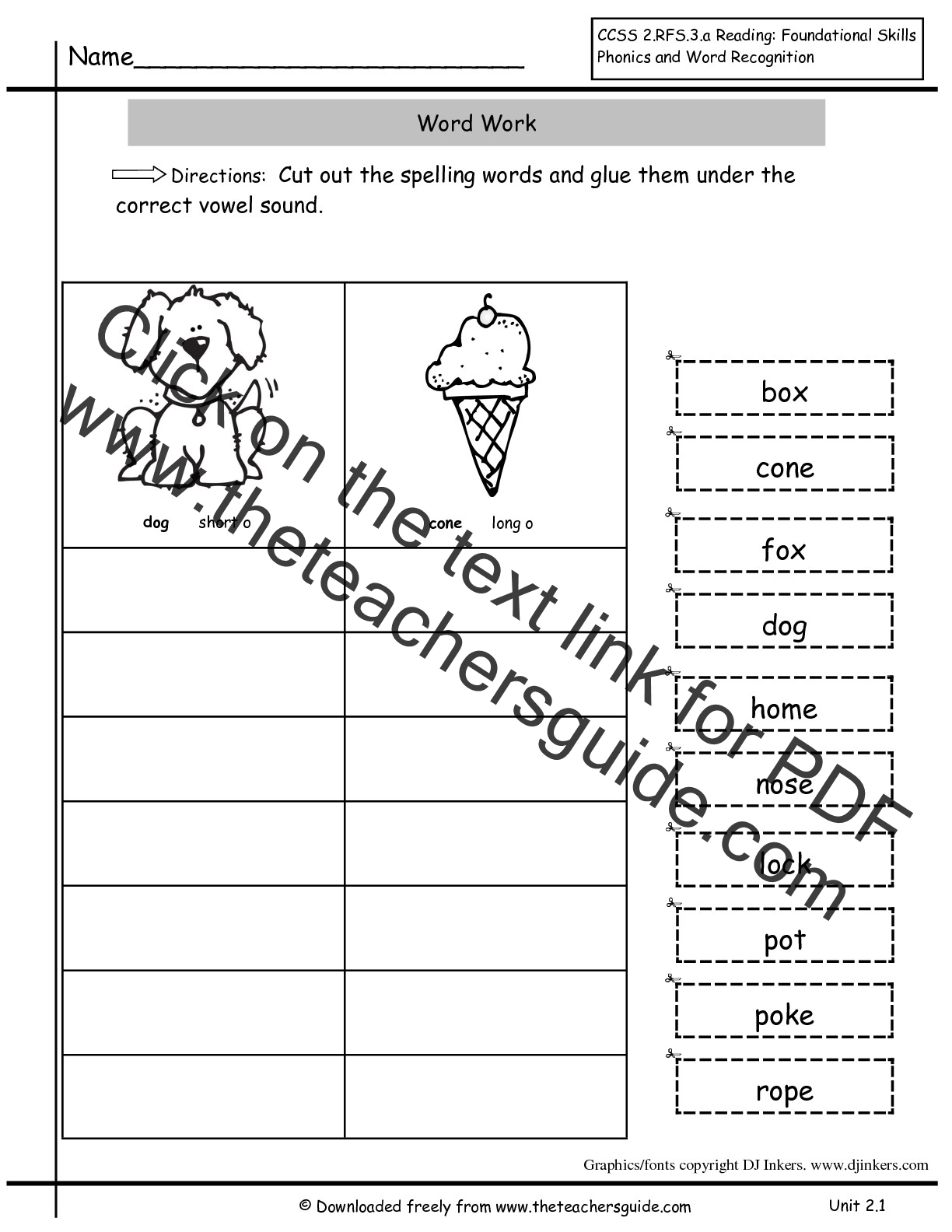 Free First Grade Worksheets Inflectional Endings