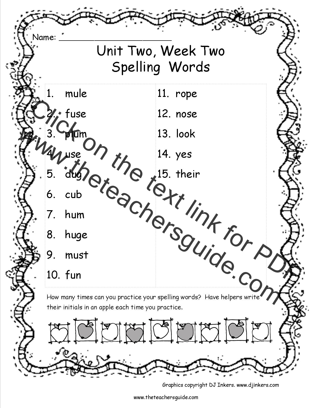Wonders Second Grade Unit Two Week Two Printouts