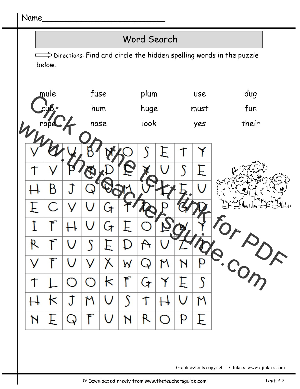 Spelling Vocabulary Worksheets 5th Grade