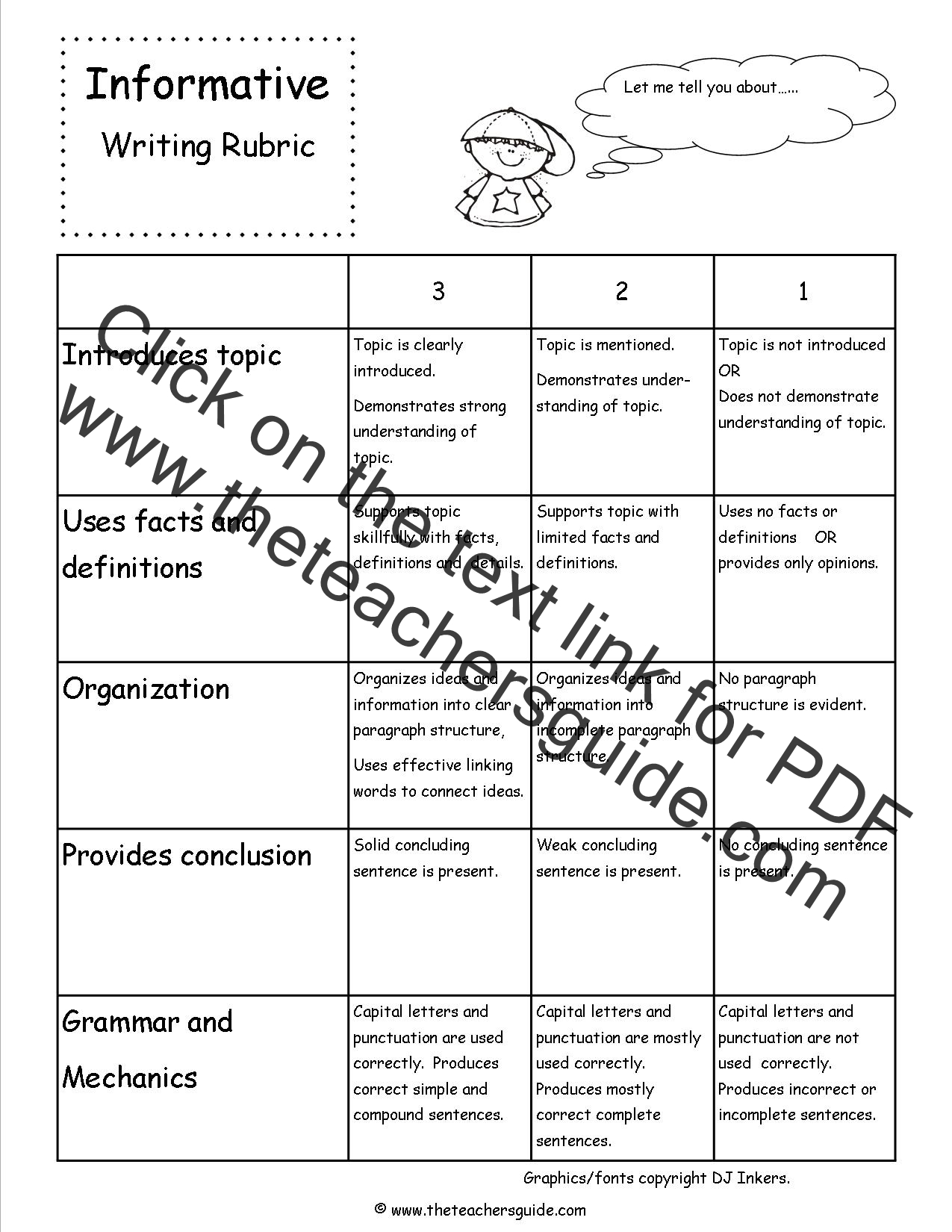 Informative Writing Lesson Plans Themes Printouts Crafts