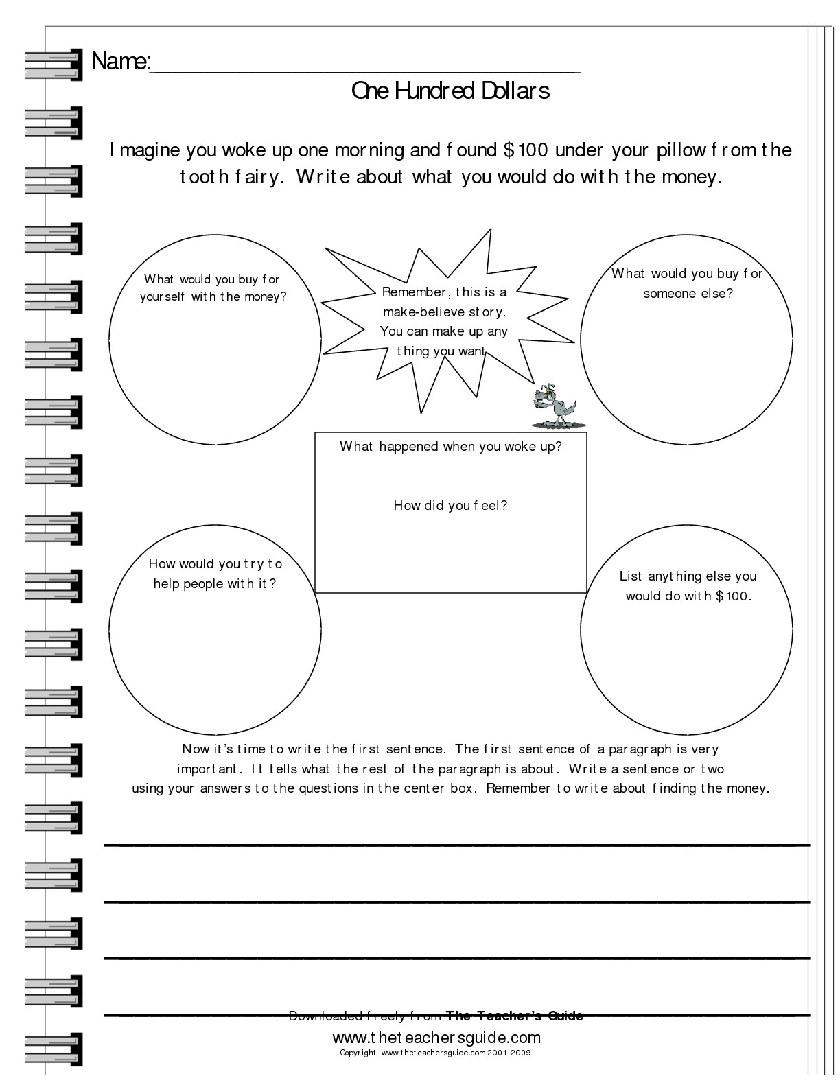 Math Writing Prompts Worksheet