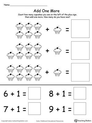 Kindergarten Addition Printable Worksheets