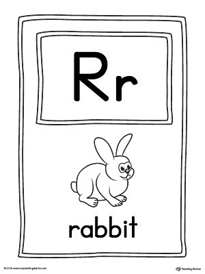 Alphabet Letter Hunt: Letter R Worksheet
