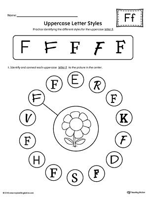Alphabet Letter F Formation Card Printable