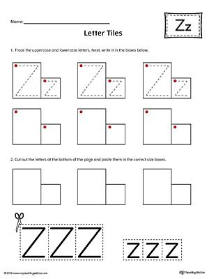 Sort the Uppercase and Lowercase Letter Z Worksheet