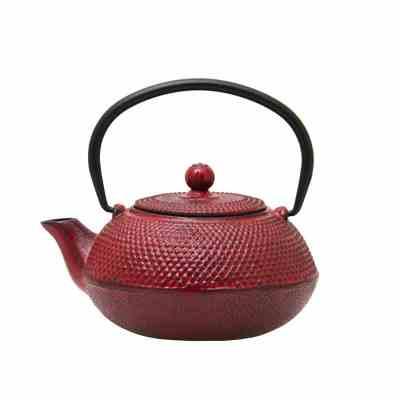600ml terracotta cast iron teapot 021750