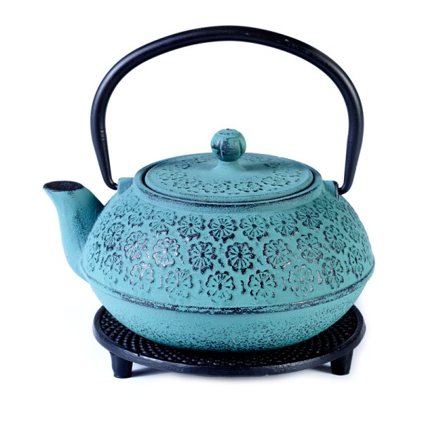 Cast iron pot duck blue on stand 800ml
