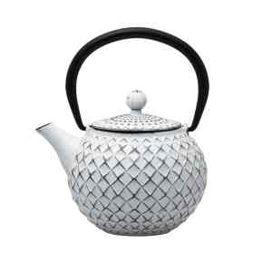Cast Iron Teapot - White - 500ml