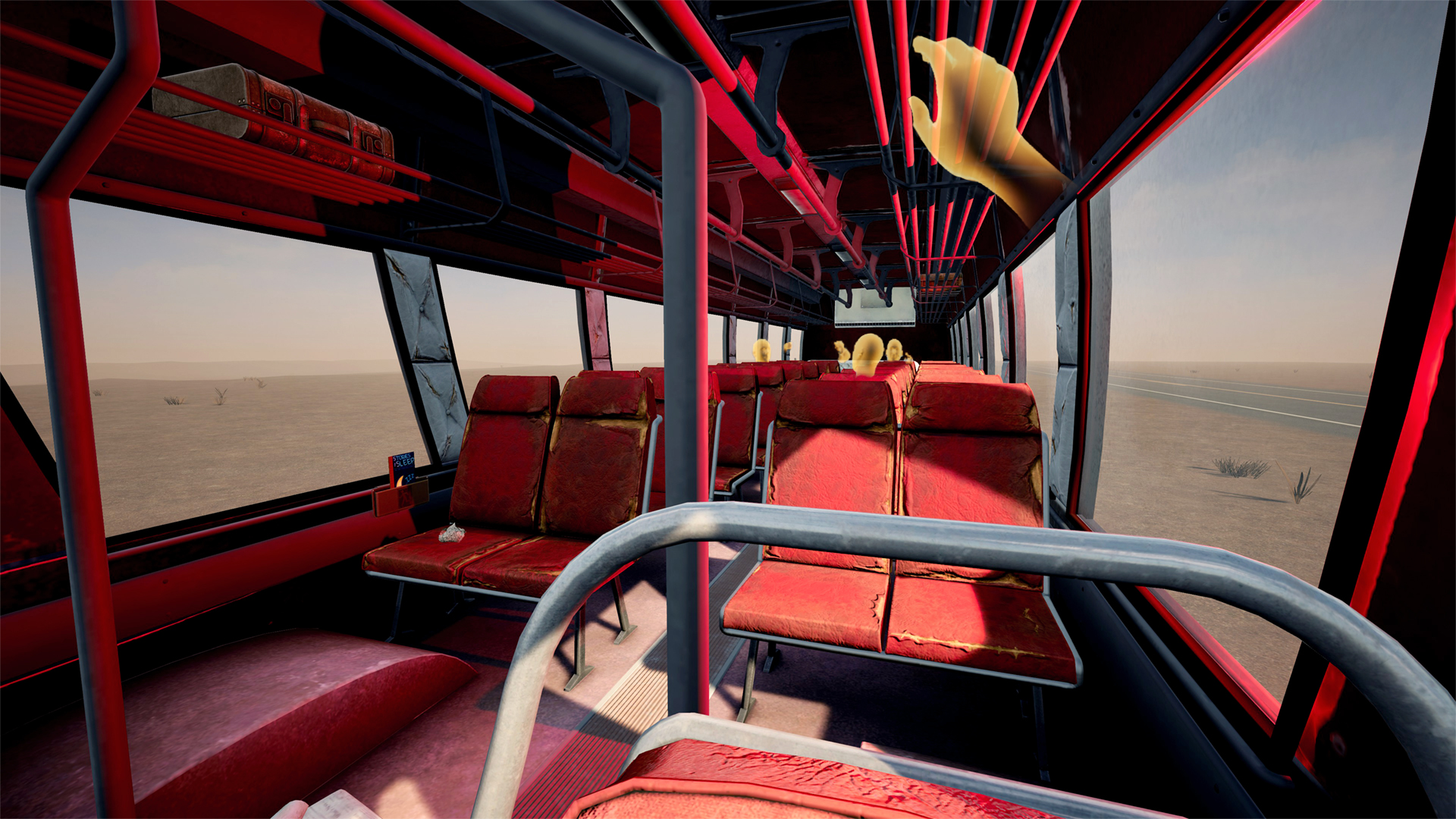 Online VR users can join you on your desert bus drive. They're too far away to actually harass you while you drive the bus.