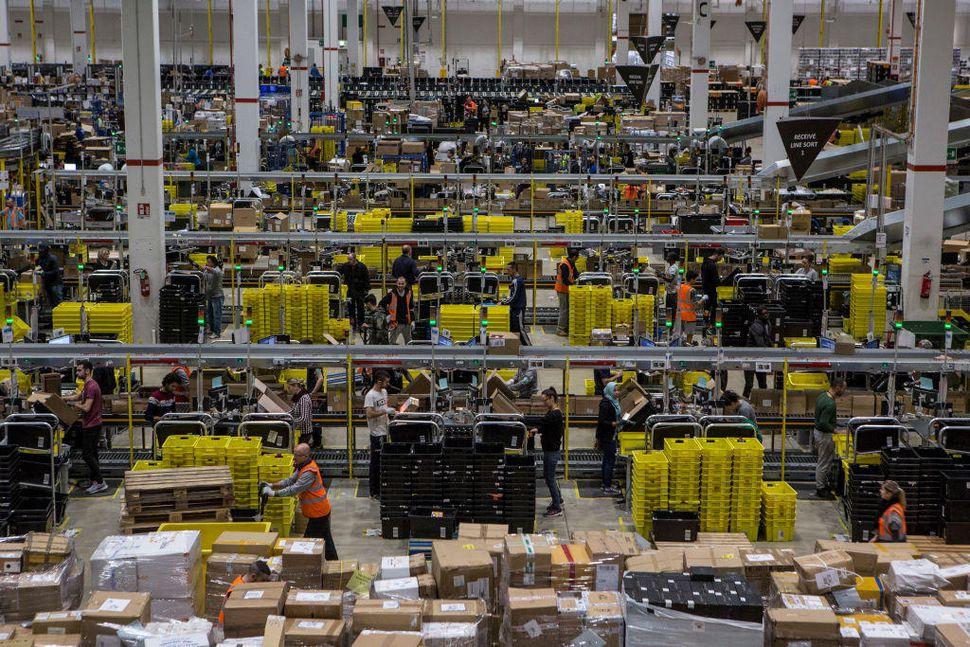 Amazon's Italian Fulfillment Centre Prepares For Black Friday