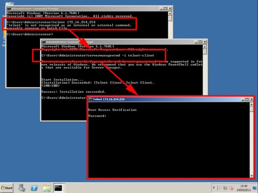How to Create Password for Telnet