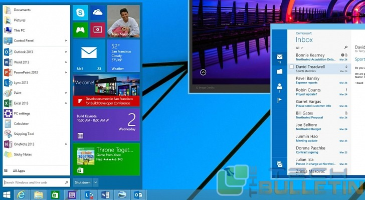 Upcoming Windows9