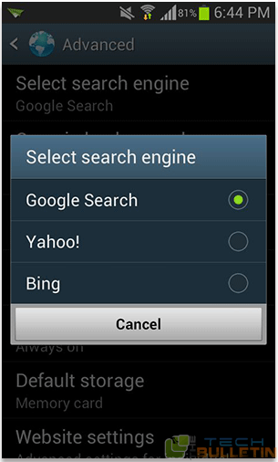 Change_search_engine_Android_browser
