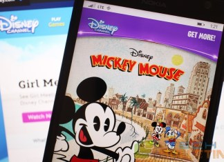 Disney Channel apps in Windows Phone Store