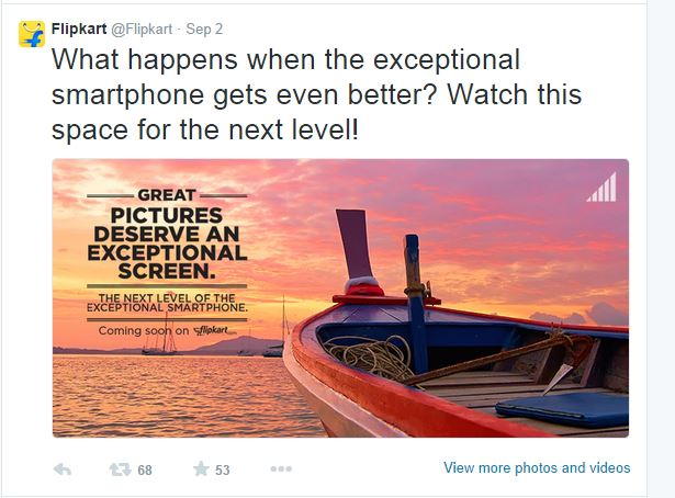 flipkart tweet on Motorola upcoming Smartphone