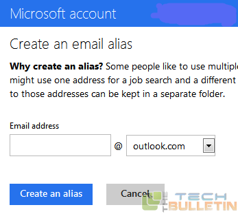 Create_Alias_to_Hotmail_Account