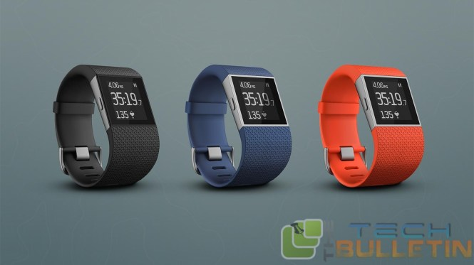 Fitbit Surge activity tracker at CES 2015