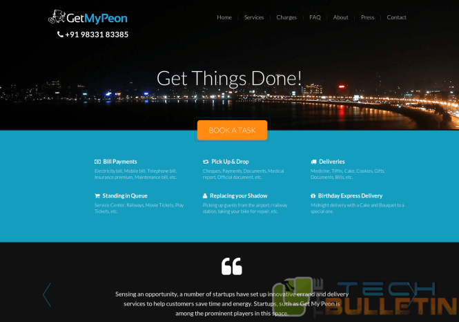 Getmypeon-Landing-page
