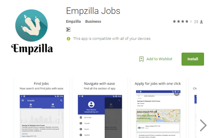Empzilla – Chat based job search app got launched in India