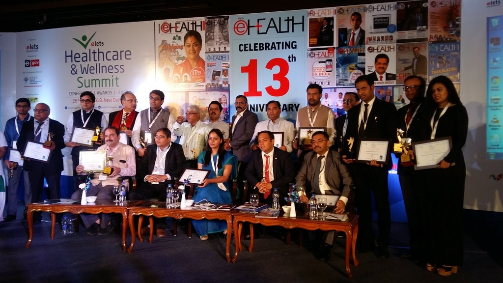 """Trustdoc.in, India's 1st technology-driven, Specialised Treatment Opinion platform comprising govt-retired super-specialists & doctors wins """"Innovative Idea of the Year""""at Elets Healthcare and Wellness Summit, 2018."""