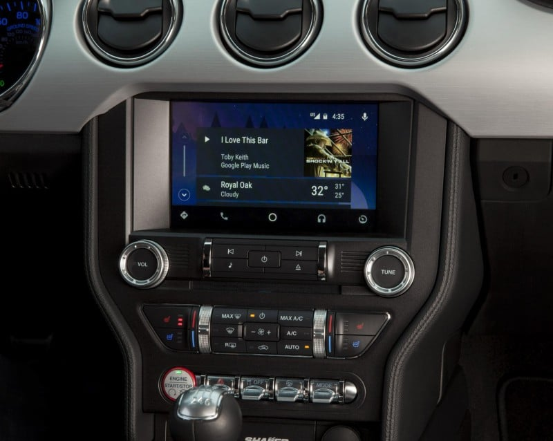 Android Auto showing on the SYNC screen.