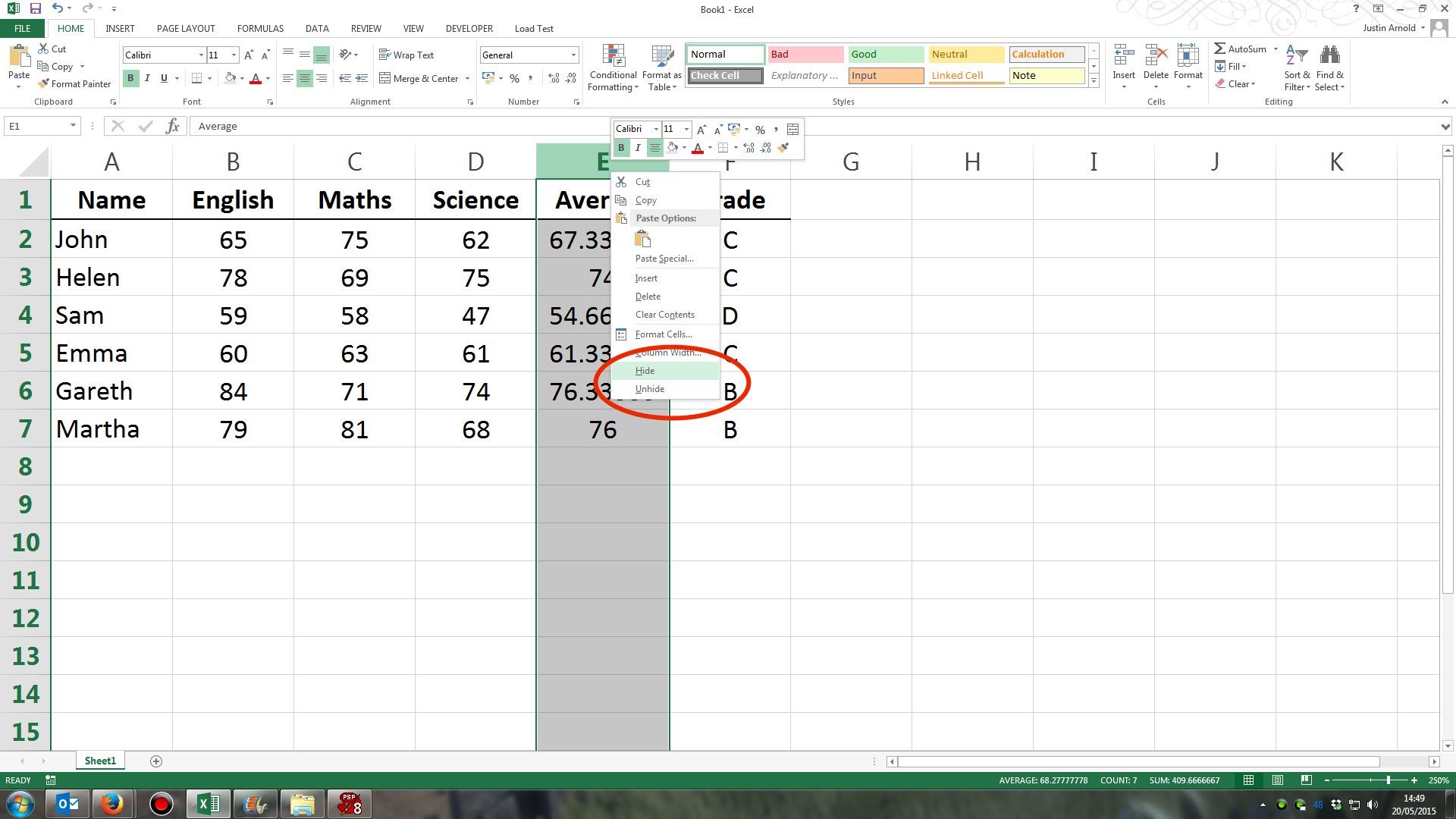 How To Unhide Hidden Columns In Excel